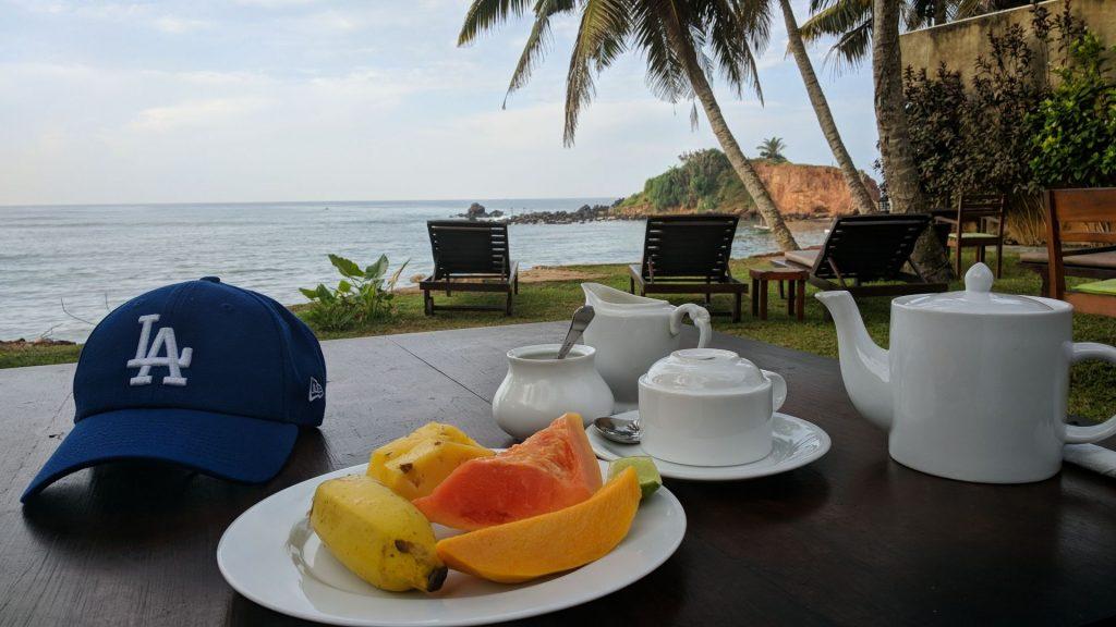 Śniadanie w hotelu Summer Brezee w Mirissa na Sri Lance - hotel godny polecenia